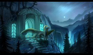 Entrance to the mountain kingdom by Deviant-Soulmates