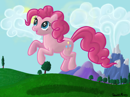 Pinkie Pie frolicing by DeathPwny