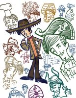 Doctor Who has some hats by raisegrate