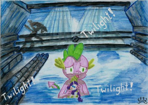 Frightened little spike by Easterforest92