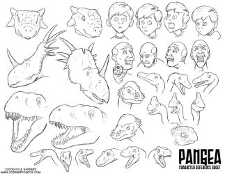 PANGEA Character References by CarbonComic
