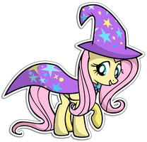 The great and powerful fluttershy by KennyKlent