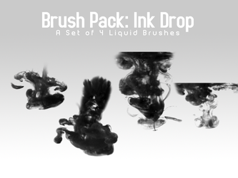Ink Drop - 4 Brushes by PerpetualStudios