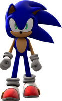 Sonic The Hedgehog Walking Render by nikfan01
