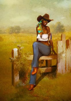 Southern Girl Pinup by corpor8chic