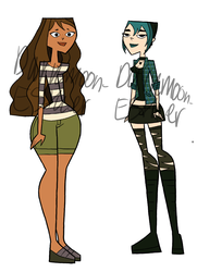 Courtney And Gwen College Age by Darkmoon-Esther