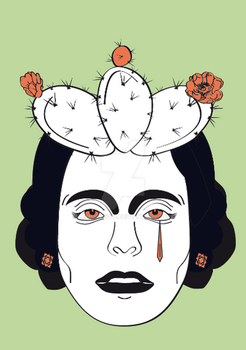 Frida Tears of a Mexican Soul by Lemurkev21