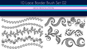 10 Lace Borders Brush Set 02 by noema-13