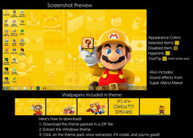 Super Mario Maker Windows 7 Theme by TheWolfBunny