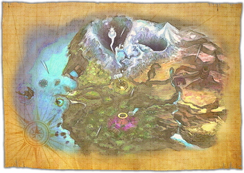 The Legend of Zelda: Majora's Mask Map by Bruellkaefer