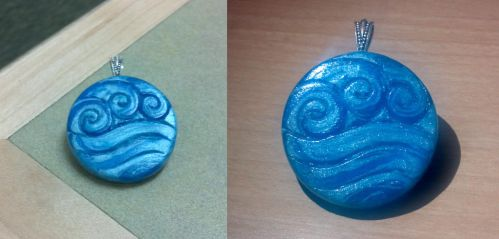 Katara's Water Tribe Pendant by chinopisces