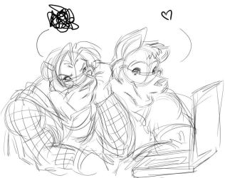 Rask helps Ken on Laptop by KensukeTheCat