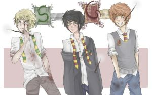 Hogwarts` boys by Andharian
