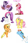 MLP chibis by OMGProductions