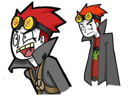 Jack Spicer and himself by sinflail39