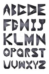 Paper Alphabet by dallypatty