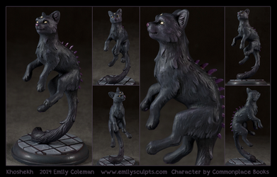 Commission : Khoshekh by emilySculpts