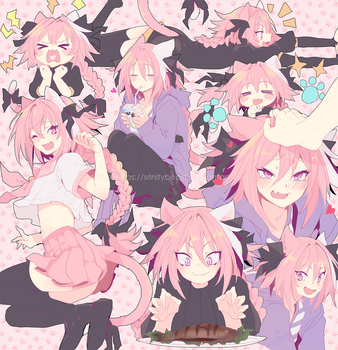 Astolfo Kitties by Srinitybeast