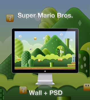 Super Mario Wallpaper+PSD by JackieTran