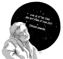 Stephen Hawking by RinRio