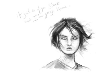 Arya Stark sketch by Elsouille