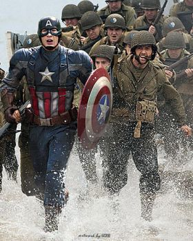 Captain America and Wolverine World War 2 by GOXIII