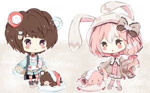 .:CLOSED:. Adoptable - Fluffbebe #4 and #5 by chisei-adopts