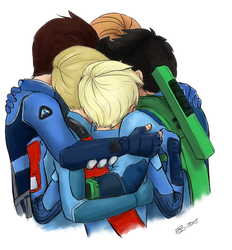 Tracy Brother Group Hug by nalina