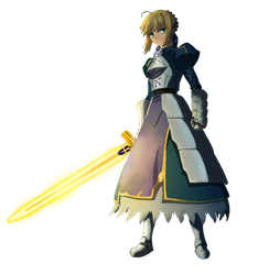 Saber (Fate/Zero , Fate/Stay Night) PNG by Prcalo