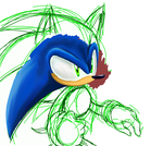 Sonic Painting WIP by Chicaaaaa