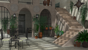 Courtyard (Blender Cycles) by timzero4