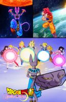 Dragon Ball Super and Sailor Moon - Battle of Gods by dbzandsm