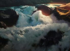 Falls at Lee Vining by centralunrest