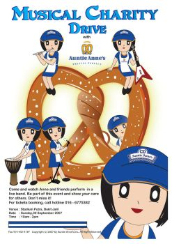 Auntie Anne's charity poster by Mrzant