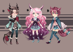 Adopts:: Flowery fantasy semi-classy by Pandastrophic