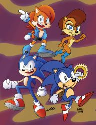 Sonic SatAm 25th Anniversary Collab by SlySonic