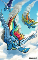 Wonderbolts by DragonBeak