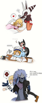 Monsters and their sleeping humans by Kell0x