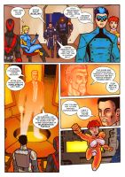 Thunder Force Alpha: Issue 1 pg 4 by Kostmeyer