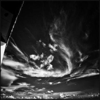 Clouds Face infrared by MichiLauke