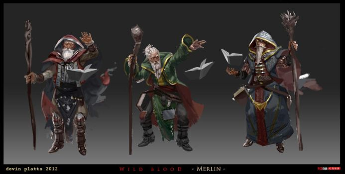 Merlin Sketches by texahol