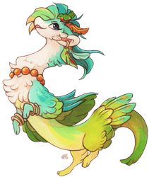 #284 Terradragon - Tropical Feathers [CLOSED] by Baraayas
