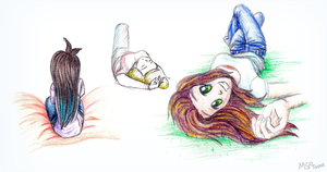 Foreshortening Practice by MSPToons