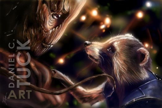 Rocket and Groot by dctuck