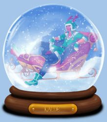 Animated Snow Globe: Kalde by Coraleana