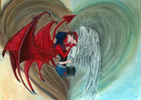 The Love of an Angel and Demon by AngelOfDragon