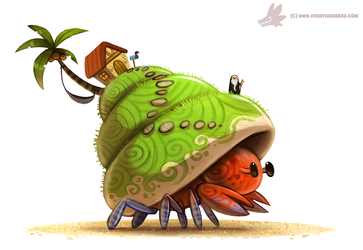 Daily Paint #1044. Hermit Island by Cryptid-Creations