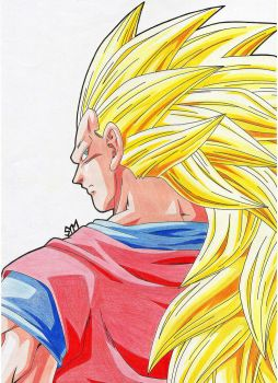 ''What Did You Say?!''  - SSJ 3 Goku by SakakiTheMastermind