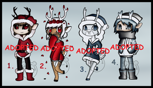 Reindeer Humanoid/Anthro Adopts (CLOSED) by Adopt-From-Frog