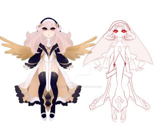 Moe nun/angel adopt WIP by sounds-like-balloons
